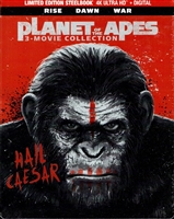 Planet of the Apes 4K Trilogy: Dawn / Rise / War SteelBook (BD + Digital Copy)(Exclusive)
