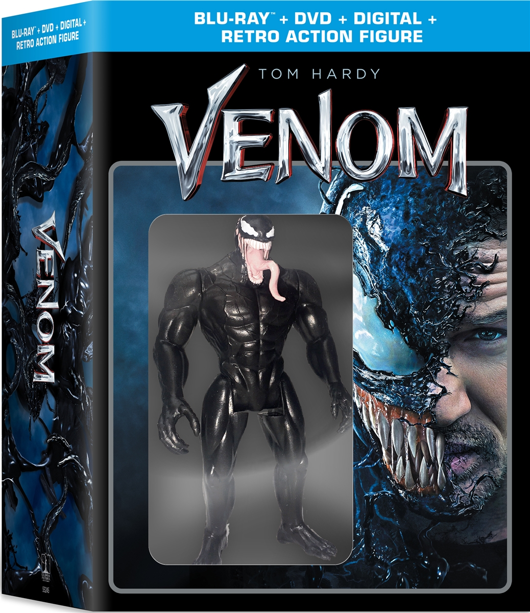 Venom w/ Action Figure (2018)(BD/DVD + Digital Copy)(Exclusive)