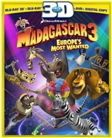 Madagascar 3: Europes Most Wanted 3D (BD/DVD + Digital Copy)