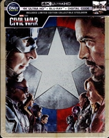 Captain America: Civil War 4K SteelBook (BD + Digital Copy)(Exclusive)