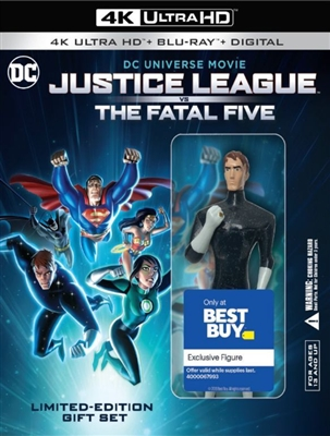 Justice League Vs the Fatal Five 4K w/ Figurine (BD + Digital Copy)(Exclusive)