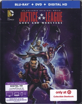 Justice League: Gods and Monsters SteelBook (BD/DVD + Digital Copy)(Exclusive)