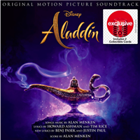 Aladdin CD Soundtrack (2019) w/ 2 Character Cards (Exclusive)