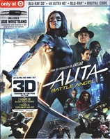 Alita: Battle Angel 3D & 4K w/ USB Charging Wristband (BD + Digital Copy)(Exclusive)