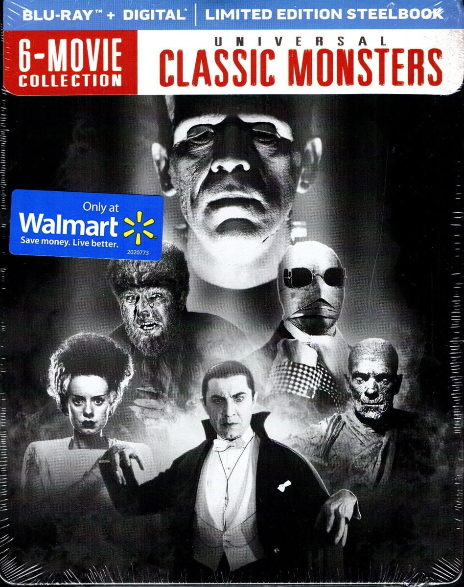 Universal Classic Monsters Steelbook Bd Digital Copy Exclusive