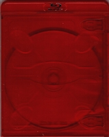 Empty 1-Disc Clear Red Vortex Blu-ray Case (11mm)