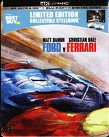 Ford v Ferrari 4K SteelBook (BD + Digital Copy)(Exclusive)
