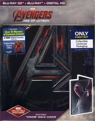 Avengers: Age of Ultron 3D SteelBook - Vision Version (BD + Digital Copy)(Exclusive)