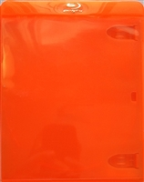 Empty 1-Disc Clear Orange Blu-ray Case (11mm)