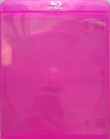 Empty 1-Disc Clear Pink Blu-ray Case (11mm)