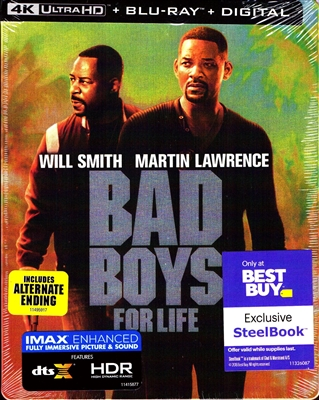 Bad Boys For Life 4K SteelBook (BD + Digital Copy)(Exclusive)