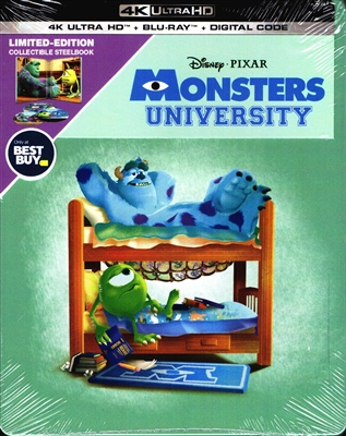 Monsters University 4K SteelBook (BD + Digital Copy)(Exclusive)