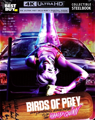 Birds of Prey 4K SteelBook (And the Fantabulous Emancipation of One Harley Quinn)(BD + Digital Copy)(Exclusive)