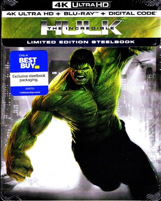The Incredible Hulk 4K SteelBook (BD + Digital Copy)(Exclusive)