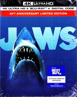 Jaws 4K SteelBook: 45th Anniversary Edition (BD + Digital Copy)(Exclusive)