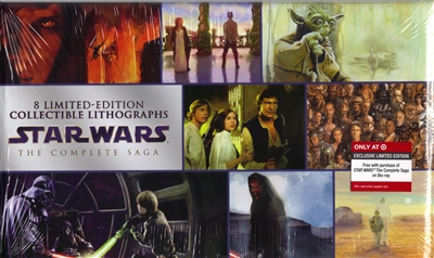 Star Wars: The Complete Saga 8 Lithographic Set (Exclusive)