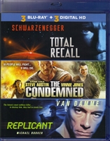Total Recall (1990) / The Condemned / Replicant (BD + Digital Copy)(Exclusive)