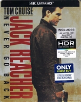 Jack Reacher: Never Go Back 4K SteelBook (BD + Digital Copy)(Exclusive)