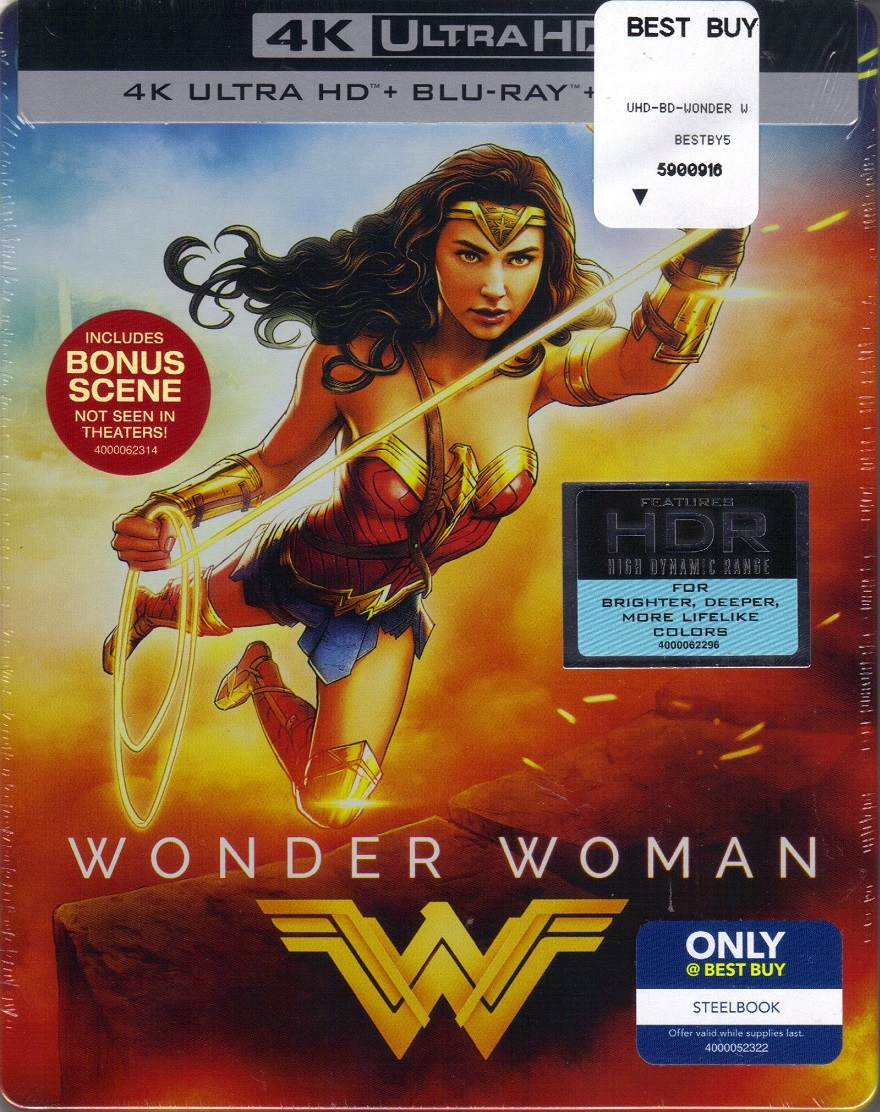 Wonder Woman 4k Steelbook 2017 Bd Digital Copy Exclusive