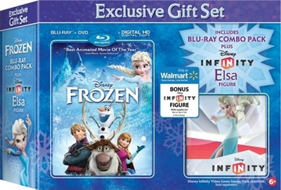 Frozen w/ Elsa Figurine (BD/DVD + Digital Copy)(Exclusive)