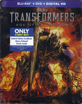 Transformers: Age of Extinction SteelBook + Decals (BD/DVD + Digital Copy)(Exclusive)