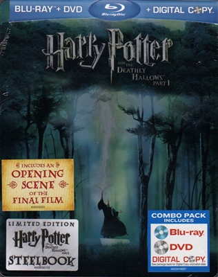 Harry Potter and the Deathly Hallows: Part 1 SteelBook (BD/DVD + Digital Copy)(Exclusive)