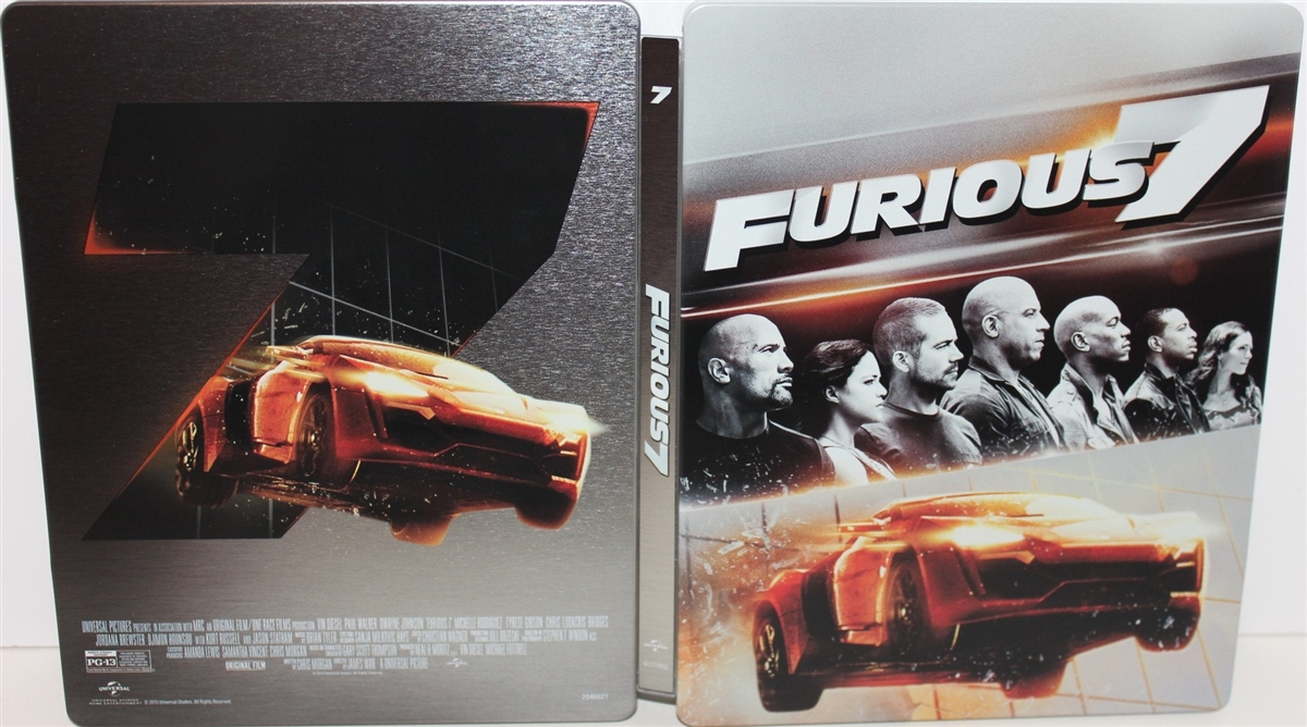 Furious 7 Extended Edition Steelbook Bd Dvd Digital Copy Exclusive