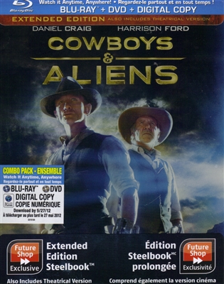 Cowboys and Aliens: Extended Edition SteelBook (BD/DVD+Digital Copy)(Canada)