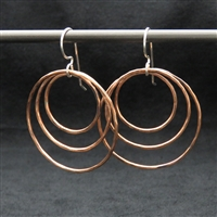 Copper Triple Hoop Earrings