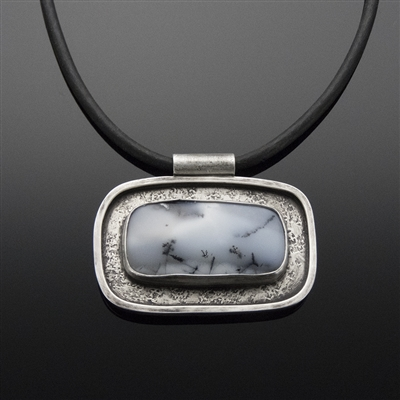 Sterling Silver Pendant and Dendritic Opal