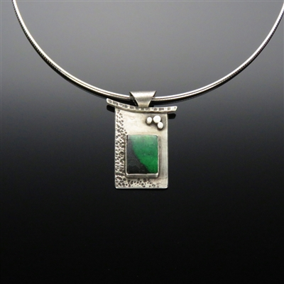 Sterling Silver and Green Garnet Pendant