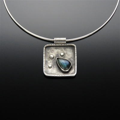 Sterling Silver and Labradorite Pendant