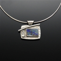 Sterling Silver and Boulder Opal Pendant