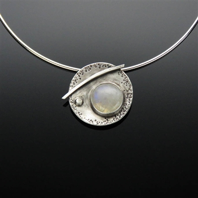 Sterling Silver and Moonstone Pendant