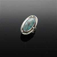 Sterling Silver and Rattlesnake Ranch Turquoise Ring