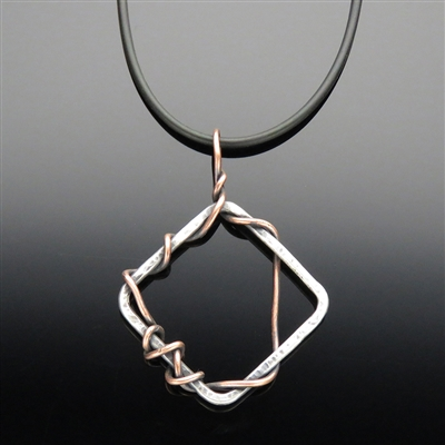 Copper and Sterling Silver Pendant