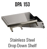 Stainless Steel Drop Down Shelf