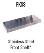 Stainless Steel Front Shelf