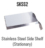Stainless Steel Side Shelf (Stationary)