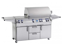 "Echelon 30"" Portable Grill, Double Side Burner, Digital Thermometer, Magic View Window"