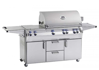 "Echelon 30"" Portable Grill, Double Side Burner, Analog Thermometer, Infrared Burner on Left Side & Magic Window"