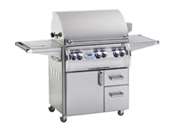 "Echelon 30"" Portable Grill, Single Side Burner, Digital Thermometer"