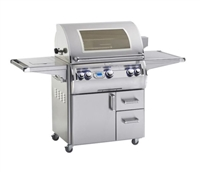 "Echelon 30"" Portable Grill, Single Side Burner, Digital Thermometer, Magic View Window"