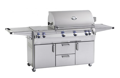"Echelon Diamond Portable 36"" Outdoor Grill, Double Side Burner, Analog Thermometer, Infrared Burner on Left Side"