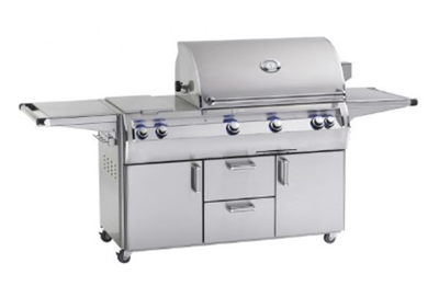 "Echelon Diamond Portable 36"" Outdoor Grill, Double Side Burner, Analog Thermometer, Infrared Burner on Left Side, Magic Window"