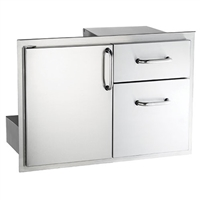 American Outdoor Grill Premium Single Door With Double Drawer