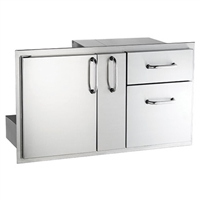 American Outdoor Grill Premium Single Door, Double Drawer With Plater Storage