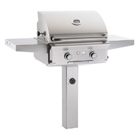 "American Outdoor Grill 24"" In-Ground Post ""L"" Series Gas Grill (Optional Rotisserie)"
