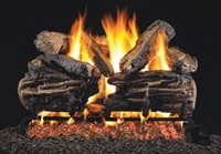 Charred Split Vented Gas Log Set