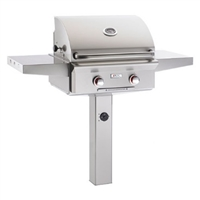 "American Outdoor Grill 24"" In-Ground Post ""T"" Series Gas Grill (Optional Rotisserie)"
